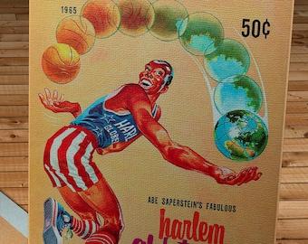 1965 Vintage Harlem Globetrotters Basketball Program - Canvas Gallery Wrap