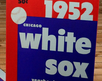 1952 Vintage Chicago White Sox Yearbook - Canvas Gallery Wrap   #BB181