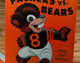 1947 Vintage Chicago Bears - Green Bay Packers Football Program - Canvas Gallery Wrap - #FB015