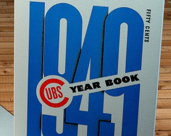 1949 Vintage Chicago Cubs Baseball Year Book - Canvas Gallery Wrap    #BB138