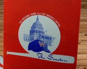 1962 Vintage Washington Senators Program - Canvas Gallery Wrap  #BB198