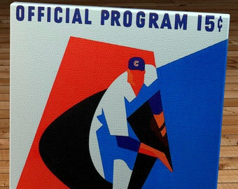 1965 Vintage Chicago Cubs Baseball Program - Canvas Gallery Wrap    #BB181