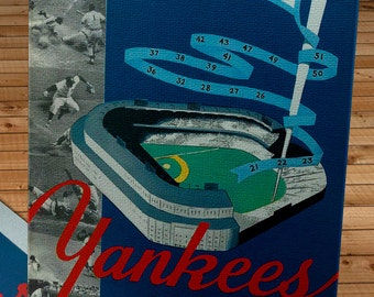 1952 Vintage New York Yankees Sketch Book - Canvas Gallery Wrap   #BB191