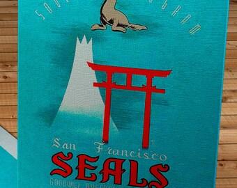 1949 Vintage San Francisco Seals Japan Tour Program - Canvas Gallery Wrap   #BB147