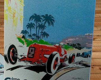 1934 Vintage Monaco Racing Poster   - Canvas Gallery Wrap   #MS003