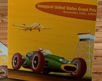 1959 Vintage Sebring Grand Prix Racing Program - Canvas Gallery Wrap   #MS002