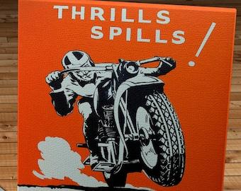 1950 Vintage Motorcycle Racing Program - Canvas Gallery Wrap   #MS006