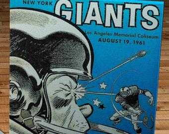 1961 Vintage New York Giants - Los Angeles Rams Football Program - Canvas Gallery Wrap   #FB021