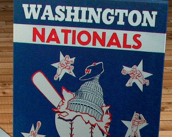 1953 Vintage Washington Nationals Yearbook - Canvas Gallery Wrap   #BB195
