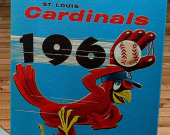 1960 Vintage St. Louis Cardinals Yearbook - Canvas Gallery Wrap   #BB197