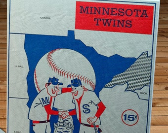 1961 Vintage Minnesota Twins Program - Canvas Gallery Wrap  #BB210