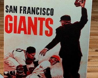 1962 Vintage San Francisco Giants Program - Canvas Gallery Wrap   #BB175