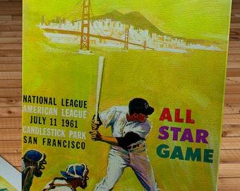 1961 Vintage San Francisco Giants -Candlestick Park All-Star Game Program  - Canvas Gallery Wrap