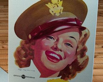 1944 Vintage Philadelphia Eagles - Chicago Bears Football Program - Canvas Gallery Wrap