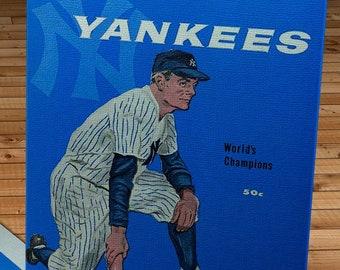 1959 Vintage New York Yankees Yearbook - Canvas Gallery Wrap