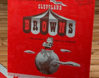 1951 Vintage Cleveland Browns - Pittsburgh Steelers Football Program - Canvas Gallery Wrap