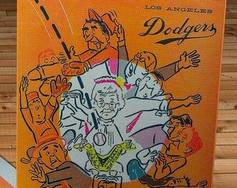1965 Vintage Los Angeles Dodgers Program - Canvas Gallery Wrap