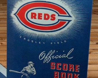 1944 Vintage Cincinnati Reds Baseball Yearbook - Canvas Gallery Wrap -