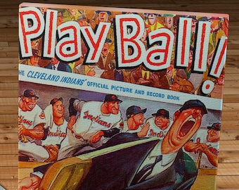 1953 Vintage Cleveland Indians Picture Book - Canvas Gallery Wrap