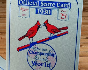 1930 Vintage Philadelphia Athletics - St. Louis Cardinals World Series Program - Canvas Gallery Wrap