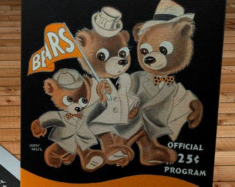 1949 Vintage Green Bay Packers - Chicago Bears -  Football Program - Canvas Gallery Wrap