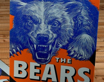 1951 Vintage Chicago Bears Football Media Guide Cover - Canvas Gallery Wrap