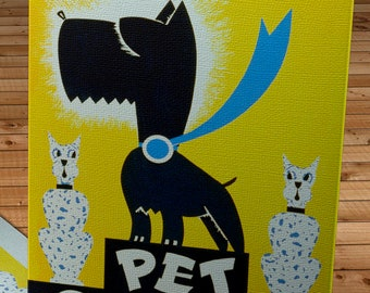 1930's Vintage WPA Pet Show Poster - Canvas Gallery Wrap