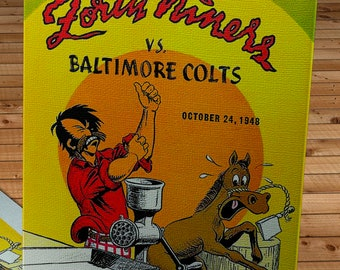 1948 Vintage San Francisco 49ers - Baltimore Colts Football Program - Canvas Gallery Wrap