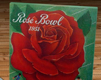 1951 Vintage Rose Bowl - Michigan Wolverines - California Bears Football Program - Canvas Gallery Wrap