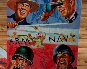 1943 Vintage Army-Navy Football Program - Michie Stadium - Canvas Gallery Wrap