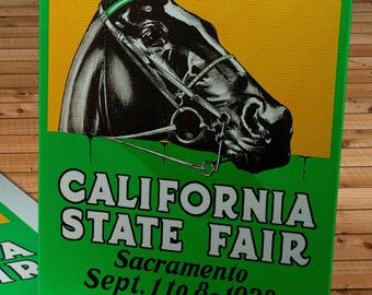 1928 Vintage California State Fair Poster - Canvas Gallery Wrap
