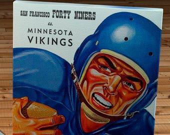 Canvas Gallery Wrap Green Bay Packers Program 12 x 16 #FB040 1956 Vintage San Francisco 49ers