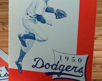 1950 Vintage Brooklyn Dodgers Yearbook - Canvas Gallery Wrap