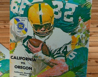 1967 Vintage California Bears - Oregon Ducks Football Program - Canvas Gallery Wrap