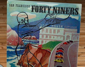 1949 Vintage San Francisco 49ers - Buffalo Bills - Football Program - Canvas Gallery Wrap