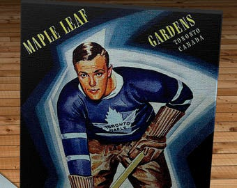 1940-1941 Vintage Toronto Maple Leafs Hockey Program - Canvas Gallery Wrap -