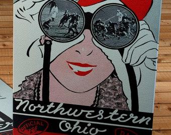 1934 Vintage Northwestern-Ohio State Football Program Cover - Canvas Gallery Wrap -