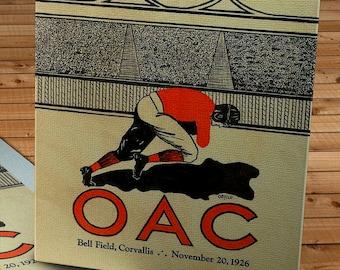 1926 Vintage Oregon State Beavers- University of Oregon Ducks Football Program - Canvas Gallery Wrap