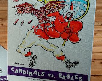 1961 Vintage St Louis Cardinals - Philadelphia Eagles - Football Program - Canvas Gallery Wrap