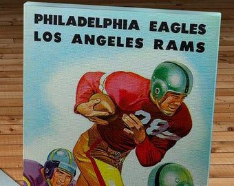1950 Vintage Philadelphia Eagles - Los Angeles Rams Football Program - Canvas Gallery Wrap