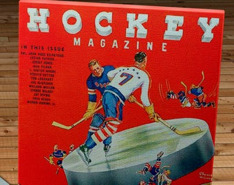 1938-1939 Vintage New York Americans Hockey Program - Canvas Gallery Wrap