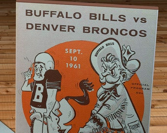 1962 Vintage Buffalo Bills - Denver Broncos Football Program - Canvas Gallery Wrap