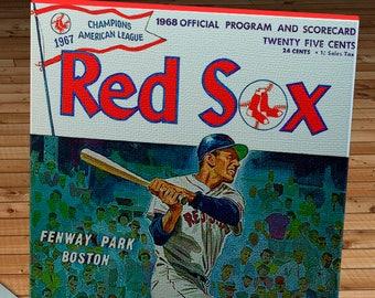 1968 Vintage Red Sox Program - Canvas Gallery Wrap  #BB275