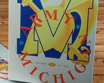 1950 Vintage Army-Michigan Football Program - Yankee Stadium - Canvas Gallery Wrap