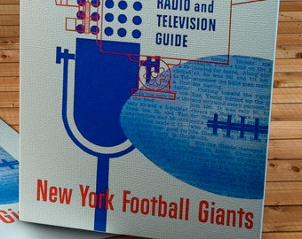 1952 Vintage New York Giants Football Media Guide - Canvas Gallery Wrap