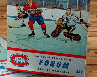 1962-1963 Vintage Montreal Canadiens Hockey Program - Canvas Gallery Wrap