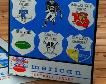 1964 Vintage AFL Football Program - Canvas Gallery Wrap