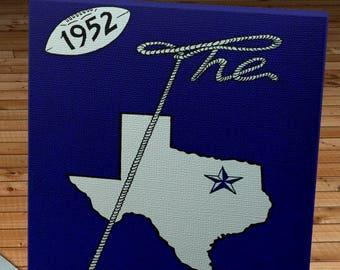 1952 Vintage Dallas Texans Football Media Guide - Canvas Gallery Wrap -  10 x 20
