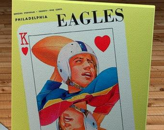 1950 Vintage Philadelphia Eagles - Pittsburgh Steelers Football Program - Canvas Gallery Wrap