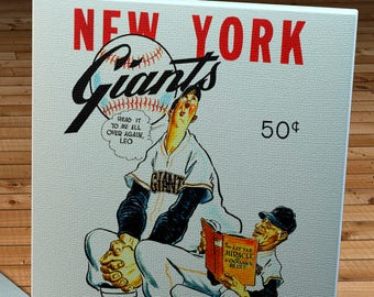1952 Vintage New York Giants Yearbook - Canvas Gallery Wrap   #BB112